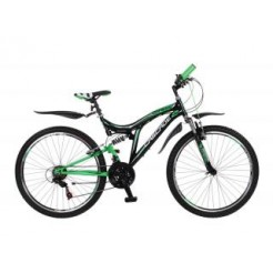 Magic Cascade 26 inch jongensfiets Groen/Zwart 18SP